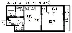 Vulcan城山(バルカン城山)[202号室号室]の間取り