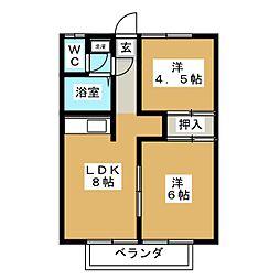 パルクハイム[2階]の間取り