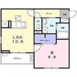 春日1丁目アパート[2階]の間取り