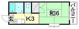 メゾンドゥ トゥモロー[203 号室号室]の間取り