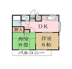 松江マンション[205号室]の間取り