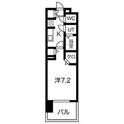 パルティール黒川アネックス 9階1Kの間取り