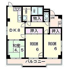 レナジア近江八幡[2階]の間取り