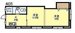 新大阪マンション[405号号室]の間取り