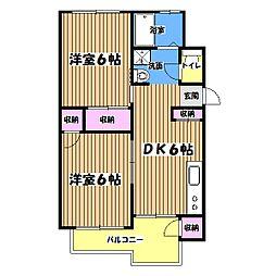 エレガントマンション[5階]の間取り