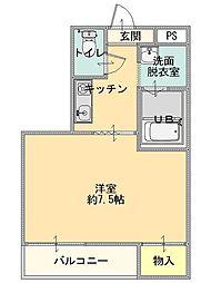 五智荘A[201号室]の間取り