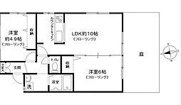神奈川県横浜市中区本牧三之谷の賃貸アパートの間取り