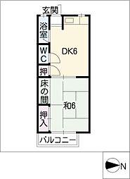 泉荘[2階]の間取り