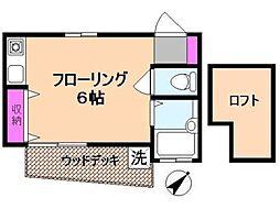パールハイツ国分寺[1階]の間取り