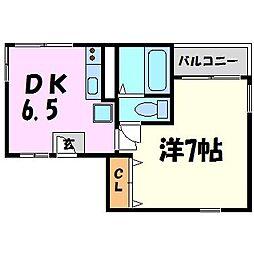 ポコアポコ[4階]の間取り