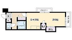 武庫川団地(UR)32号棟[601号室]の間取り