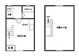 JR鹿児島本線 肥前旭駅 3.2kmの賃貸アパート 1階1DKの間取り