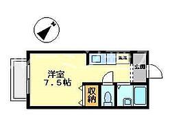 レクスコート[1階]の間取り