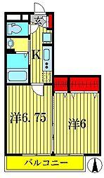 グランドソレーユBABA II・III[2階]の間取り