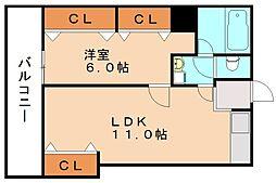 レーオロイヤル[1階]の間取り