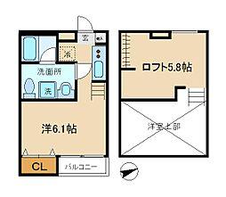 プリエール松戸[2階]の間取り
