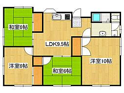 兵庫県神戸市垂水区西舞子4丁目の賃貸マンションの間取り