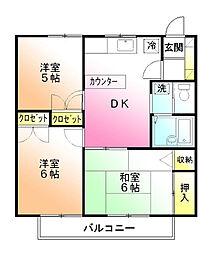 シェモワ[1階]の間取り