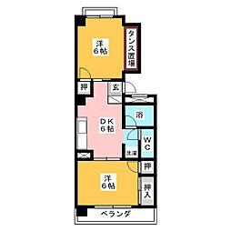 京田レジデンス[3階]の間取り