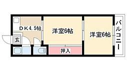 愛知県名古屋市天白区一本松1丁目の賃貸マンションの間取り
