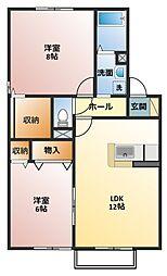 シェトワボヌール A棟[2階]の間取り