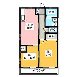 タアナ[2階]の間取り