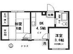 神奈川県横浜市南区井土ケ谷下町の賃貸マンションの間取り
