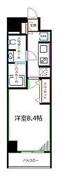 JR中央本線 荻窪駅 徒歩14分の賃貸マンション 2階1Kの間取り