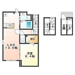 コートハウス安塚II[3階]の間取り