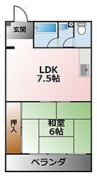 甲子園ハイツ[1階]の間取り