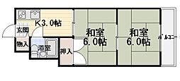 森岡ハイツ[201号室]の間取り