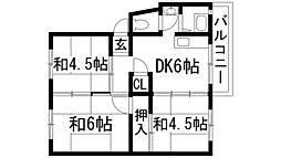 伊丹鴻池第2団地[4階]の間取り