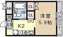 サンガーデン山科[112号室号室]の間取り