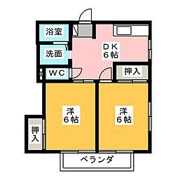 ハイツ住吉 I II III[2階]の間取り