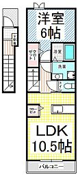 ガーデンハウス朝日山 F[2階]の間取り