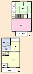 長田テラスハウス[1階]の間取り