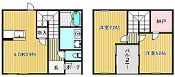[テラスハウス] 滋賀県守山市岡町 の賃貸【/】の間取り