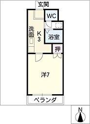 シューフルール5[1階]の間取り