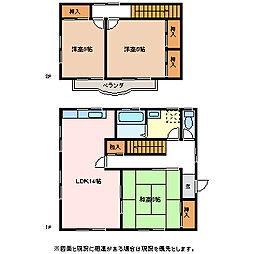 [一戸建] 長野県松本市横田4丁目 の賃貸【/】の間取り