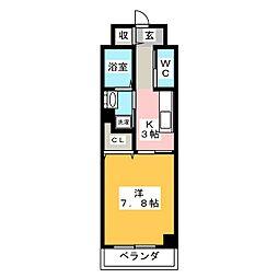 メゾン ミール[4階]の間取り