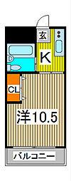 コーポ詩苑[3階]の間取り