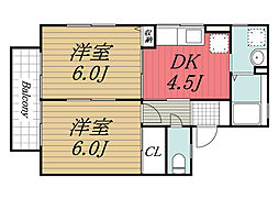 千葉県千葉市緑区あすみが丘東2丁目の賃貸アパートの間取り