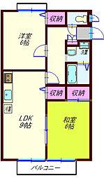 パークサイドヴィラA[2階]の間取り