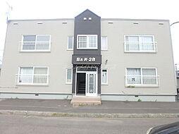 北海道札幌市東区北二十八条東18丁目の賃貸アパートの外観