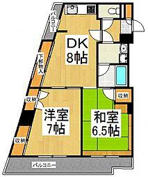 ラビオン協和[5階]の間取り