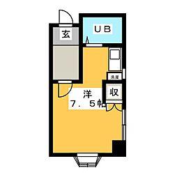 コーポ加藤[4階]の間取り