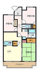 ガーデンシティ長田[104号室]の間取り