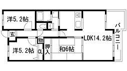 ラヴェニール宝塚中山台プルミエ[1階]の間取り