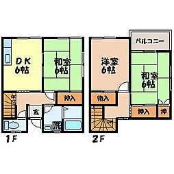 [テラスハウス] 長崎県長崎市大手3丁目 の賃貸【/】の間取り