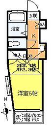 メゾン欅(ケヤキ)[105号室]の間取り